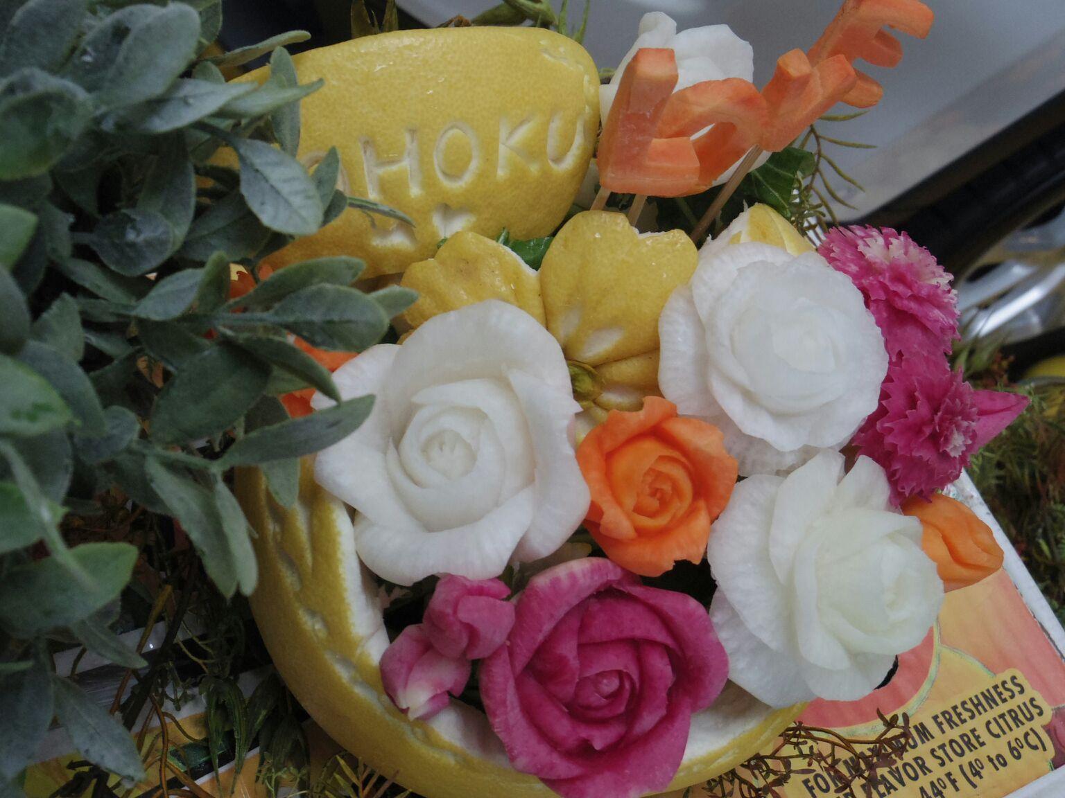晩白柚の花かご