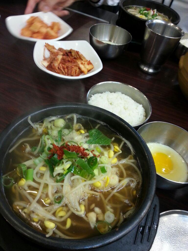 韓国での朝食